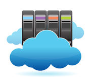 Servers and Clouds illustration design Royalty Free Stock Image