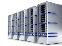 Servers of computers Royalty Free Stock Photography