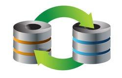 Servers Database backup. Concept illustration design over white stock illustration