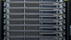 Servers in a datacenter Stock Image