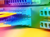 Servers in een centrum van technologiegegevens Stock Afbeeldingen