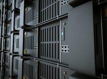 Servers en de foto van het de computertechnologieconcept van de hardwareruimte Royalty-vrije Stock Afbeeldingen
