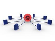 Servers en e-mail stock illustratie