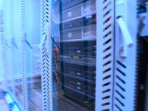 Servers in het gegevenscentrum Stock Foto's