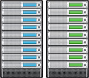 Servers in installed in rack Stock Images