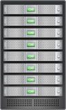 Servers in installed in rack Royalty Free Stock Images