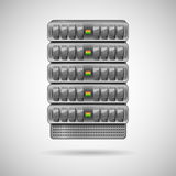 Servers installed in rack Royalty Free Stock Images