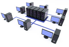 Servers with a lot of pc Royalty Free Stock Images