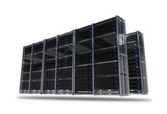 Servers Rack Isolated Royalty Free Stock Photo