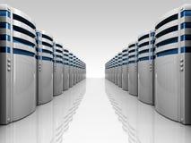 Servers row Stock Image