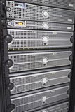 Servers and SAN in rack Stock Photography