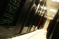 Servers and Servers. A server room Royalty Free Stock Photo