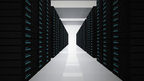 Servers. Tower of servers in room stock illustration