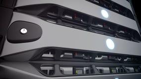 Servers van het close-up de Moderne Netwerk in een gegevenscentrum lijn royalty-vrije illustratie