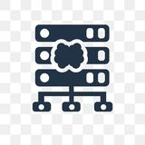 Servers vector icon isolated on transparent background, Servers vector illustration