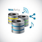Servers web hosting and icons Stock Photography