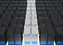 Servers from a Webhosting Company Stock Photo