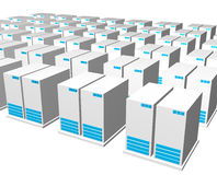 Servers from a Webhosting Company Royalty Free Stock Image