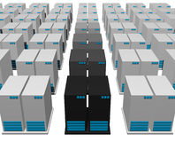 Servers from a Webhosting Company Royalty Free Stock Photo
