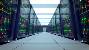 Serversrekken Moderne datacenter SMAU 2010 - de wolk van Microsoft gegevensverwerking 8k UHD