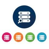 Serversymbol Teknologisymbol vektor för set för tecknad filmhjärtor polar Arkivbild