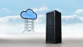 Serverturm und große Daten stock video footage