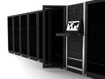 servervärld stock illustrationer