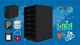 Servervektorillustration Stockfotografie