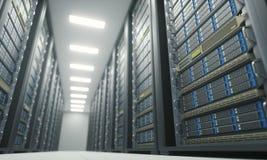 Serverzaal Gegevenscentrum stock illustratie