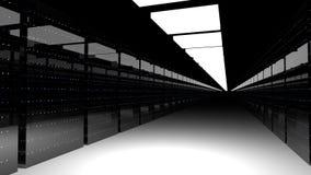 Serverzaal Gegevenscentrum 3d geef terug Royalty-vrije Illustratie