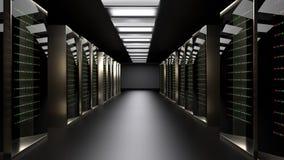 Serverzaal Gegevenscentrum het 3d teruggeven royalty-vrije stock afbeeldingen