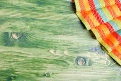 Servet in de hogere juiste hoek op het groene bord met SP Royalty-vrije Stock Foto's