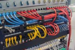 Servet-Netzkabel mehrfarbig stockbild