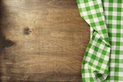 Servetdoek op houten achtergrond Stock Fotografie