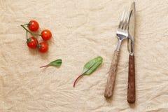 Servett för matbakgrund arkivfoton