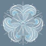 Servett för snöflingaprydnadcirkulär stock illustrationer