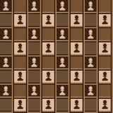Servett med schackprydnaden Royaltyfri Foto