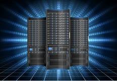 Serveur dans le cyberespace Photos stock