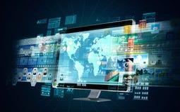 Serveur de multimédia d'Internet Image libre de droits