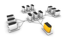 serveur de réseau Image stock