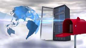 Serveur global et transmission de messages illustration de vecteur