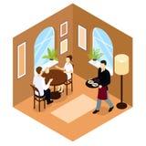 Serveur Service Isometric Composition illustration libre de droits
