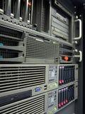 serveurs centraux d'armoire de données d'ordinateur Images libres de droits