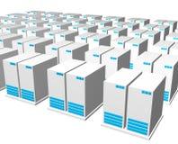 Serveurs d'une compagnie de Webhosting Image libre de droits
