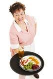 Serveuse - dîner pour un image stock