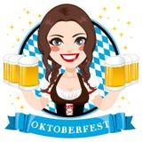 Serveuse de bière d'Oktoberfest Image libre de droits