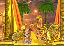 Servez la reine de pharaon Photo stock