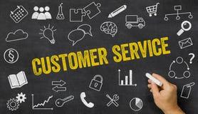 Serviço ao cliente escrito em um quadro-negro Fotografia de Stock Royalty Free