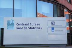 Serviço central de detalhe da Estatística (CBS) Fotografia de Stock