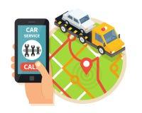 Serviço da evacuação Vetor do auxílio do carro ilustração do vetor
